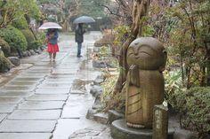 Nagomi Jizo Garden Statues, Garden Sculpture, Little Buddha, Japanese Things, Buddhist Monk, Japanese Maple, Life Happens, Pilgrim, Mindful