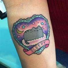 Thank you Krys ✨✨✨✨✨ @the_hideaway_tattoo #pusheen #spiritanimal #kawaiitattoo ✨