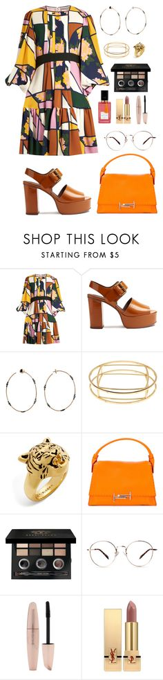 """Vibes"" by alcdance1 ❤ liked on Polyvore featuring Roksanda, See by Chloé, STONE, Trina Turk, BaubleBar, Tod's, Bobbi Brown Cosmetics, Forever 21, Yves Saint Laurent and Diana Vreeland"