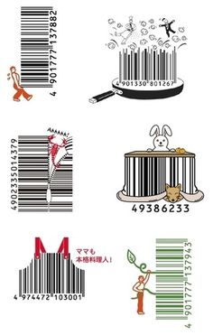 Popgadget Personal Technology for Women: Inventive Japanese barcodes http://www.popgadget.net/images/japanese-barcode-art.jpg