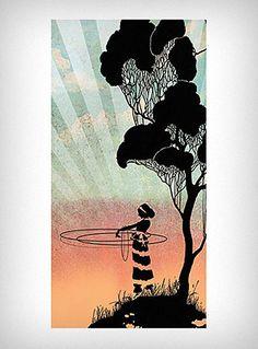Hula Hoop Stretched Canvas Art