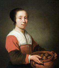 Dienstmeid met kom oliebollen - Aelbert Cuyp, ca. 1652