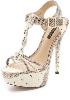 Rachel Zoe Snake Platform Sandals
