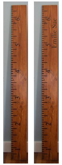 DIY Vinyl for a Wooden Ruler Growth Chart or Wall Surface-wooden ruler growth chart, life size wooden ruler, growth chart, baby gift, baby growth chart, kids growth chart, measuring stick for kids, growth chart- reclaimed barn wood would be nice