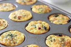At 150 calories and 12 grams of protein, these gluten-free turkey sausage muffins are smarter than any fast-food egg option you'll find before work. This is another recipe that's easy to bake ahead of time and grab when you head out the door.  Photo: Leta Shy