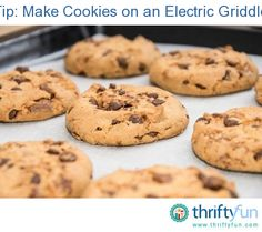"""I'm recycling this tip, but thought it was so good I had to submit it! Take your store bought or homemade (yummy) cookie dough and """"bake"""" it  on a electric griddle. Especially good when you don't want to heat up the kitchen on a hot day or just want a few cookies."""