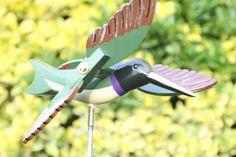 Hummingbird Whirligig Bird, Bird Garden Decor