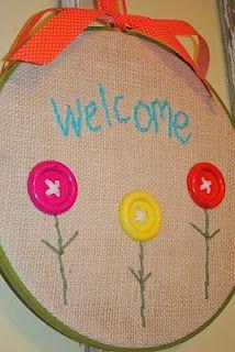 embroidery hoop crafting