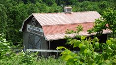 Cool looking barn on Pinchgut Hollow in Fairmont, WV #Barns