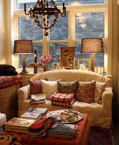 Cozy Cottage Living Room monty retro tv | cottage living rooms, living room furniture and