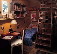 Anne Frank's attic bedroom in Amsterdam