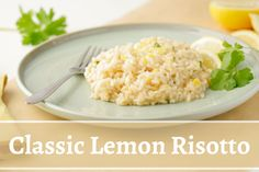 30 Minutes | Serves 4 | Vegetarian | This is a simple but classic recipe to serve a Lemon risotto. Using just the rich taste of lemon this recipe creates a savory and creamy risotto. Also perfect as a side dish. Old Tom And Jerry, Lemon Ice Cream, Arborio Rice, Lemon Yogurt, Dry White Wine, Lemon Cookies, Lemonade, Risotto, Side Dishes