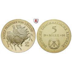 DDR, 5 Mark 1984, von Lützow, PP, J. 1599: Kupfer-Nickel-5 Mark 1984. von Lützow. J. 1599; Polierte Platte, verkapselt… #coins #numismatics