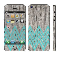 Apple iPhone 4/4s, 5/5s, iPad Mini, iPad 2, and Samsung Galaxy S3, S4: Antique Worn Wood Turquoise Chevron Skin Wrap or iPhone Hard Case on Etsy- for my phone!!!