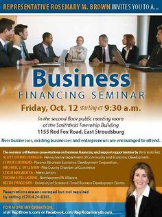 Business Financing Seminar, 10/12/2012 - East Stroudsburg, PA