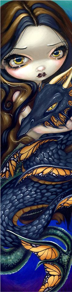Mermaid with Black Sea Serpent by Jasmine Becket-Griffith