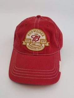 Budweiser Baseball Cap Hat Beer St. Louis Missouri Red Strapback Cotton  #Budweiser #BaseballCap