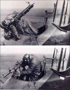 Exemplos de posições para tiro num FE.2b inglês com duas montagens.