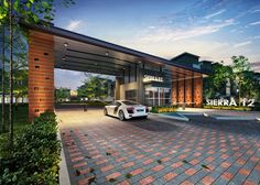 Image result for grand entrance statement Entrance Gates, Main Entrance, Grand Entrance, Main Gate Design, Entrance Design, Archi Design, Gate House, Resort Villa, Home Interior