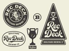 Rec Deck Brand Identity & Logo System by Tad Carpenter on Dribbble Brand Identity, Branding, Show And Tell, Logo Inspiration, Decking, Carpenter, Typography, Stripes, Logos