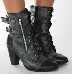 womens army style boots