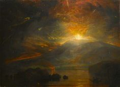 The Eruption of the Soufrière Mountains in the Island of St Vincent, 30 April 1812 / Joseph Mallord William Turner / 1815 / oil on canvas