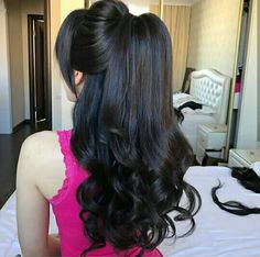 Ideas hair cuts wavy layers curls for 2019 Ponytail Hairstyles, Bride Hairstyles, Hairstyles Haircuts, Pretty Hairstyles, Braid Ponytail, Blonde Hair Goals, Hair Up Styles, Elegant Wedding Hair, Bridal Hair