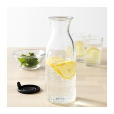 VARDAGEN Carafe with lid, clear glass clear glass 17 oz Mimosa Bar