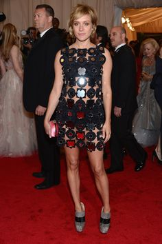 Chloe Sevigny in Miu Miu: this physically hurts me. Miuccia, what were you thinking?