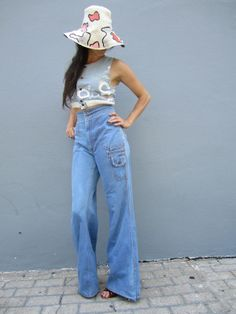 images of 1970's high wasted jeans - Google Search