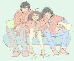 Boku no Hero Academia || Tenya Iida, Uraraka Ochako, Midoriya Izuku.