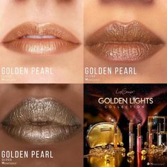 Limited Edition Golden Pearl Gloss by SeneGence is a soft, glowing champagne with a pearly beige finish. #goldenpearl #senegence