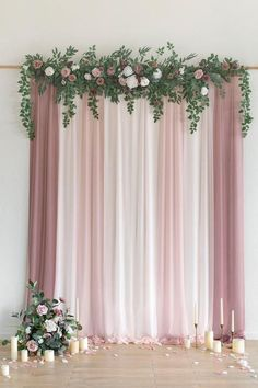 Bridal Shower Backdrop, Wedding Ceremony Decorations, Wedding Backdrop Design, Wedding Ideas, Wedding Flower Backdrop, Tulle Backdrop, Floral Backdrop, Ceremony Arch, Bridal Shower Decorations
