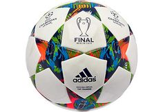 adidas Finale Berlin Top Training Soccer Ball - White and Blue. Get yours at www.soccerpro.com right now!