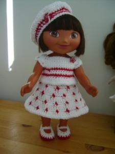 "I'm Just Dotty About Dora - 15"" doll...Image intense - Free Original Patterns - Crochetville"