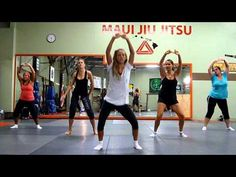 """1, 2, Step"" by Ciara. I did a hip hop piece to this back when I took hip hop, so I like this Zumba dance to this song!"