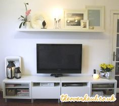 Shelf above TV