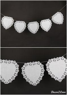 Vintage wedding decoration- paper girland -Vintage svadobné dekorácie- papierová girlanda