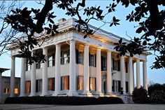 This Greek Revival Mansion built in 1836, once hosted a ball for Winnie Davis, daughter of Jefferson Davis. Later it was owned by Joseph Bond, one of the South's wealthiest cotton planters.