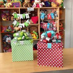 Combina tus cajas a tu gusto! Diy Gift Box, Diy Gifts, Birthday Box, Birthday Gifts, Balloon Box, Candy Bouquet, Ideas Para Fiestas, Party In A Box, Creative Gifts