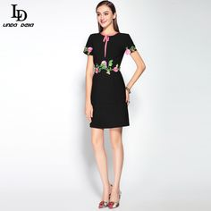 Cheap dresses elderly, Buy Quality dresses animation directly from China dress simulation Suppliers: New 2016 Runway Sheath Pancil Dress Women's High Quality Long Sleeve Pineapple fruit Sequin Beading Printed Sexy Bodycon