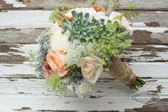 Vintage bouquet from The Flower Mill green, peach, white, pink @The Flower Mill @Cory Ann Ellis