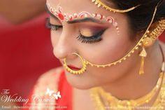 Indian Wedding Bride, Bengali Wedding, Bengali Bride, Wedding Looks, Bridal Looks, Bridal Style, Nath Nose Ring, Nose Rings, Indian Bridal Outfits