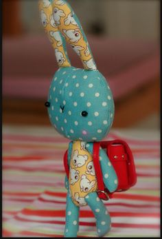 Fabric tiny bunny
