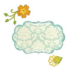Sizzix Thinlits Die Set 6PK - Fancy Label & Flowers Item #658956
