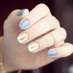 Nailspiration nail art on short nails in simple geometry || идеи для весеннего маникюра на коротких ногтях