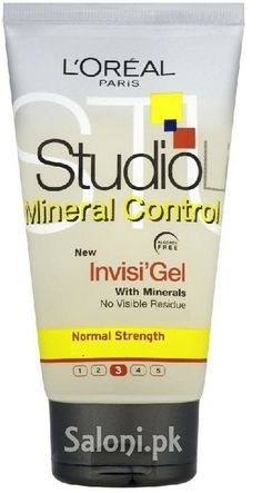 L'oreal Paris Studio Line Mineral Control Invisi Gel for Normal Strength 150 ML L'oréal Paris, Styling Products, Loreal, Minerals, Strength, Studio, Bottle, Health, Salud