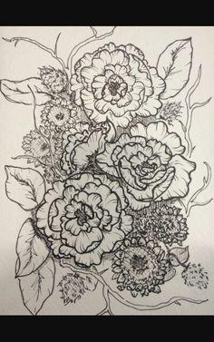Unfinished sketch, ink inspiration.