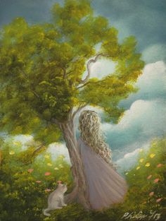 tCart1   Back to search results|Listed in category:  Art>Direct from the Artist>Paintings       Mouse over image to zoom          Have one to sell? Sell it yourself  ACEO ATC OOAK Original Painting Fantasy Tree Landscape Girl Fairy Tale Cat