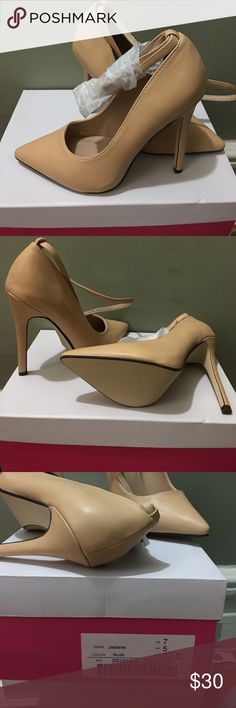 Justfab shoes new with box New with box nude shoes JustFab Shoes Heels